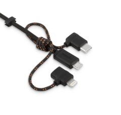 Кабель Moshi Universal 3 в 1 USB to Lightning, USB-C и Micro USB 1м