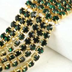 Купить стразовые цепи в Москве оптом Emerald