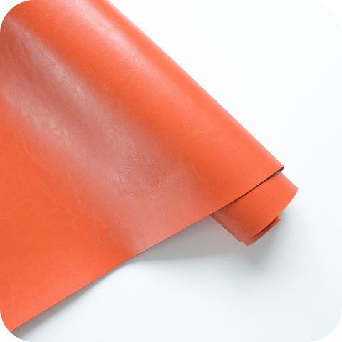 Кожзам переплетный глянцевый, Красно оранжевый