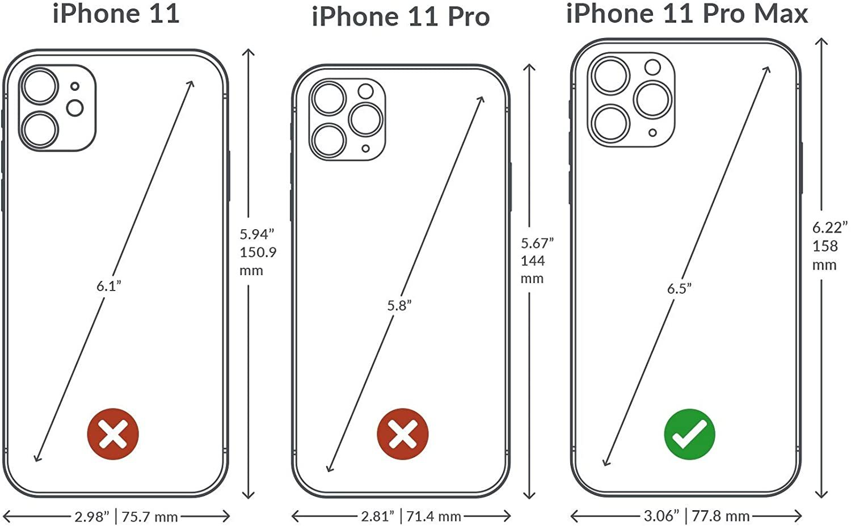 Case for iPhone 11 Pro Max - bordeaux