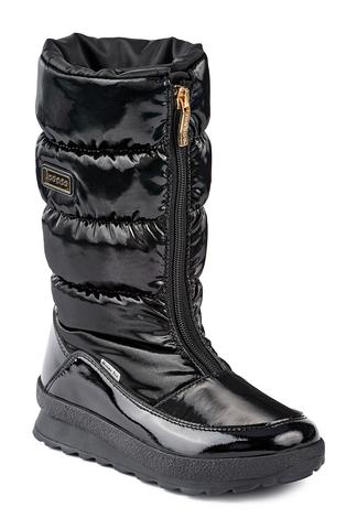 Jog Dog зимние сапоги ALLRUNER (черный флэш) для девочки