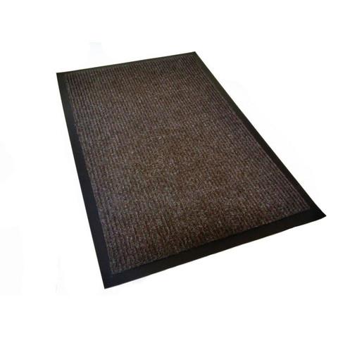 Коврик входной влаговпитывающий ворсовый КОМФОРТ 60х90см коричневый