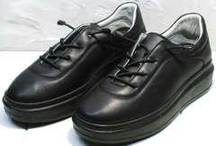 Повседневные женские кроссовки сникерсы Rozen M-520 All Black.