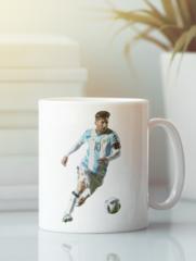 Кружка с изображением Лионель Месси (Lionel Messi) белая 005