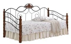 Кровать-кушетка Канцона 200x90 (Canzona) Черный/Красный дуб