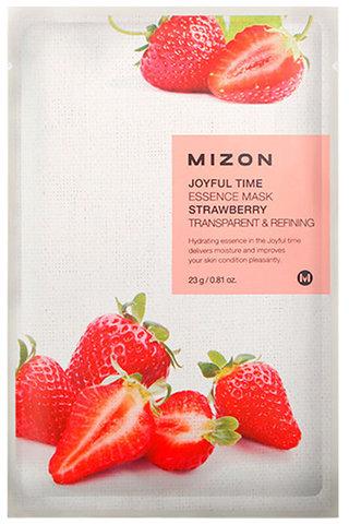 Mizon Маска тканевая осветляющая с клубникой Joyful Time Essence Mask Strawberry 1 шт.