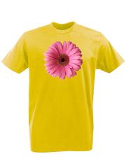 Футболка с принтом Цветы (Герберы) желтая 002