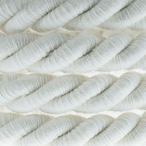 Толстый витой ретро провод d16mm (Белый) Италия
