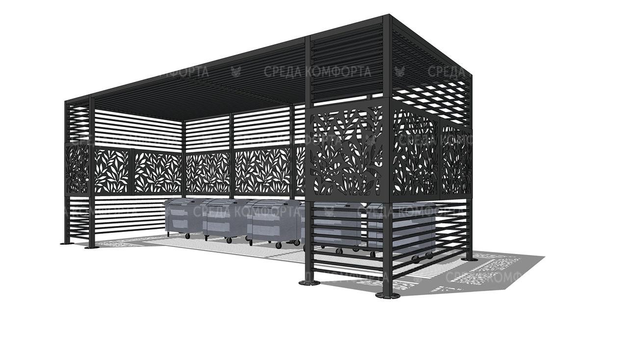 Ограждения для мусорных контейнеров ( без ворот) NVS0010