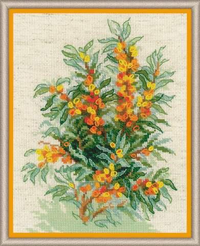 Набор для вышивания крестом «Облепиха» (1648)