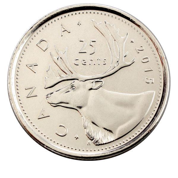 25 центов Олень 2016 г.  UNC