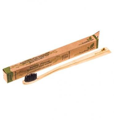 Зубная щетка из бамбука (угольная, средняя жесткость) Ecotoothbrush