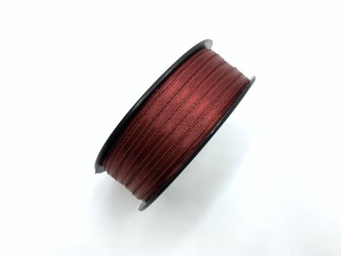Атласная лента 3,5 мм, бордо
