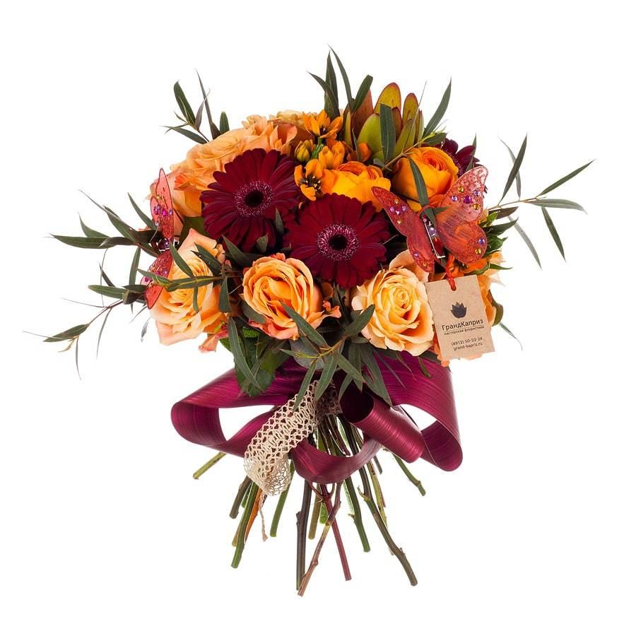 Букет из роз и ранункулюсов - Розаура