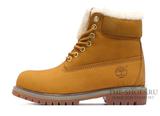 Ботинки Timberland 18027 Waterproof Brown Женские С Мехом
