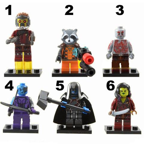 Minifigures Guardians of the Galaxy Blocks Building