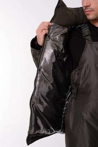 Костюм с полукомбинезоном Фишер (Мембрана/Тёмно-зеленый) -45 OneRus