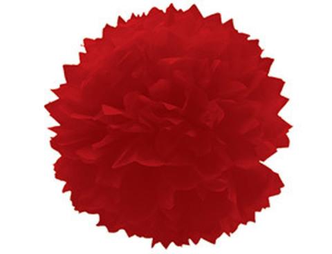 1412-0069 Помпон бумажный красный 40см/G