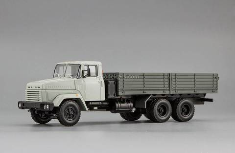 KRAZ-250 late modification 1985-1995 white-gray 1:43 Nash Avtoprom