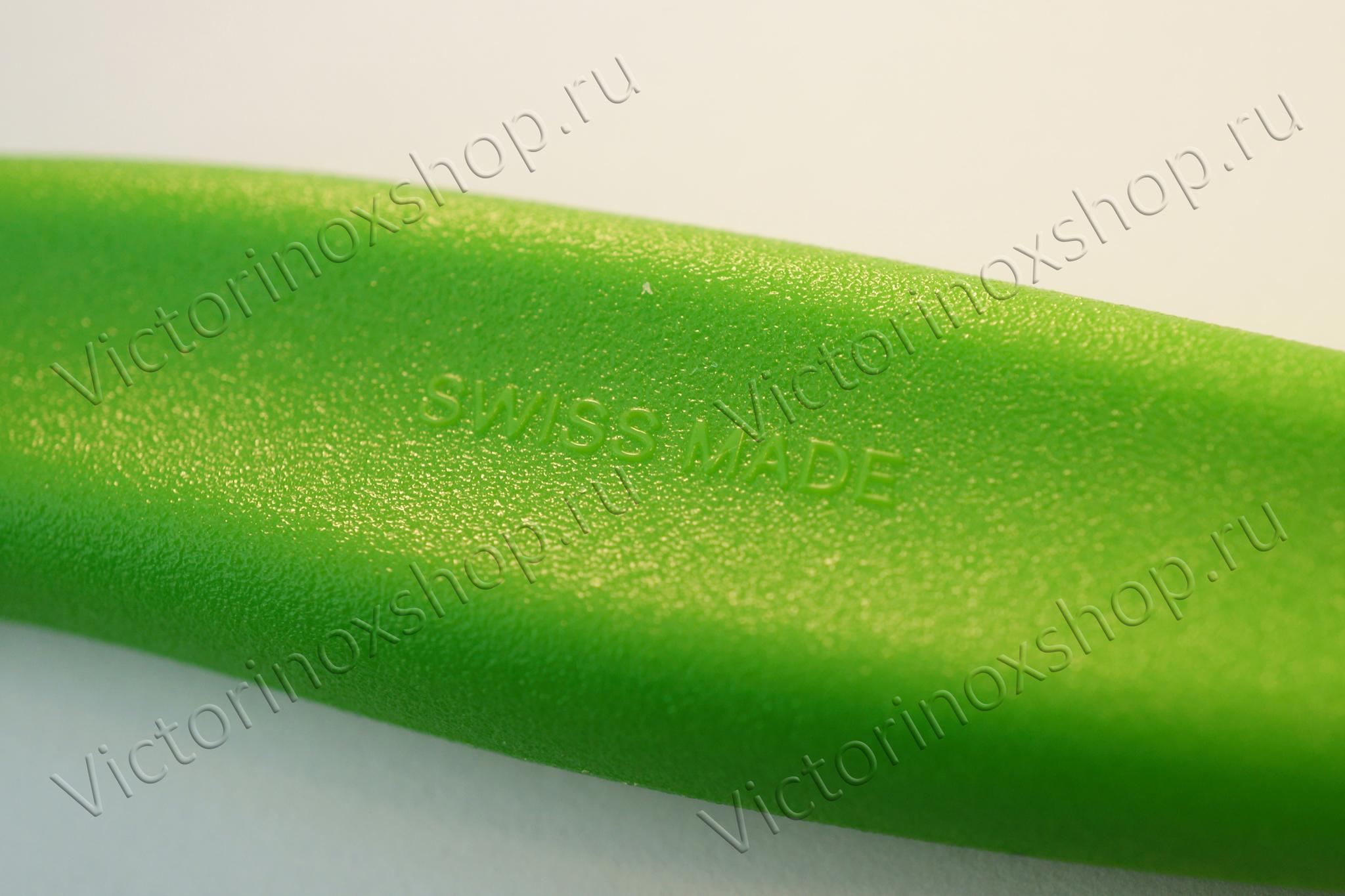 Нож Victorinox с волнистым лезвием, зелёный (6.7836.L114)