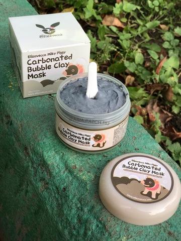 Хит продаж! Маска для лица глиняно-пузырьковая Elizavecca Milky Piggy Carbonated Bubble Clay Mask, 100 гр