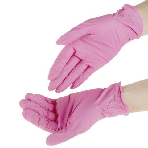 SITEK MED, нитриловые перчатки, размер S, 50пар или 100шт, цвет розовый