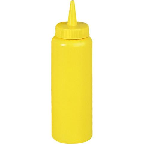 Диспенсер пластиковый для соусов и сиропов 350 мл желтый