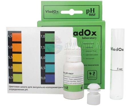 Тест-набор VladOx pH для измерения pH от 4.5 до 9 pH