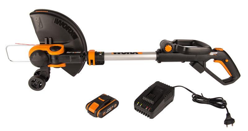 Триммер аккумуляторный WORX WG163E.2 30 см
