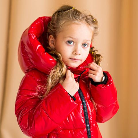 Дитяче, підліткове зимове пальто для дівчинки