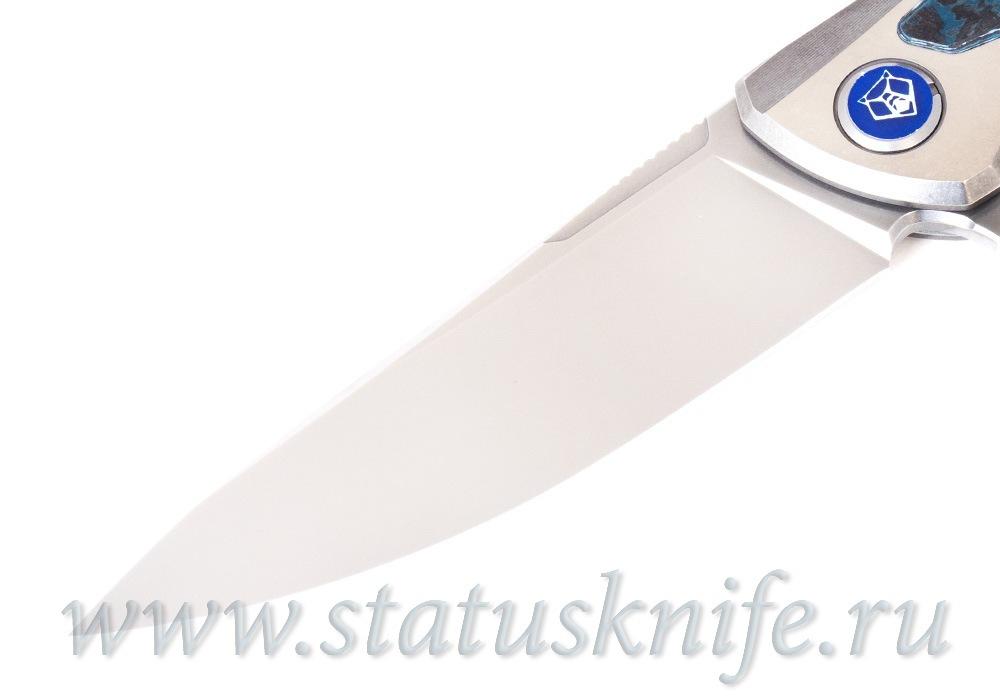 Нож Широгоров Флиппер F95NL 3M M390 CF ARCTIC STORM MRBS - фотография