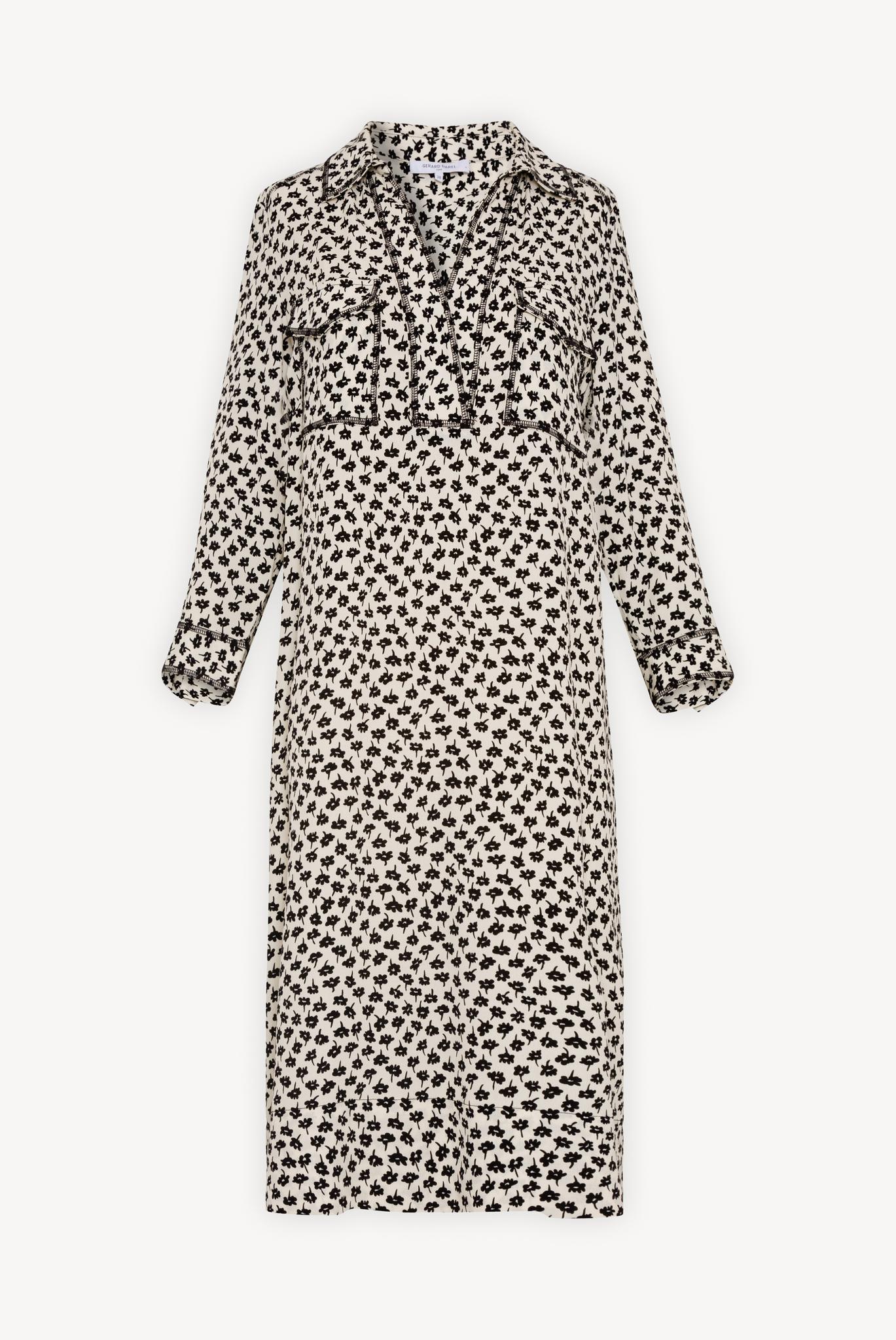 SONYA  - Платье-рубашка из крепа с принтом