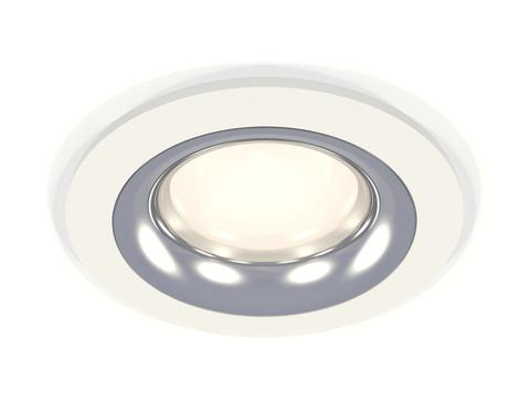 Комплект встраиваемого светильника XC7621003 SWH/PSL белый песок/серебро полированное MR16 GU5.3 (C7621, N7012)