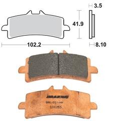 Колодки тормозные Braking 930CM55 ПОД Супорт Brembo