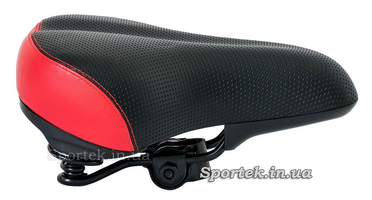 Права частина на сідло велосипедне прогулянкове Grand Star чорно-червоне