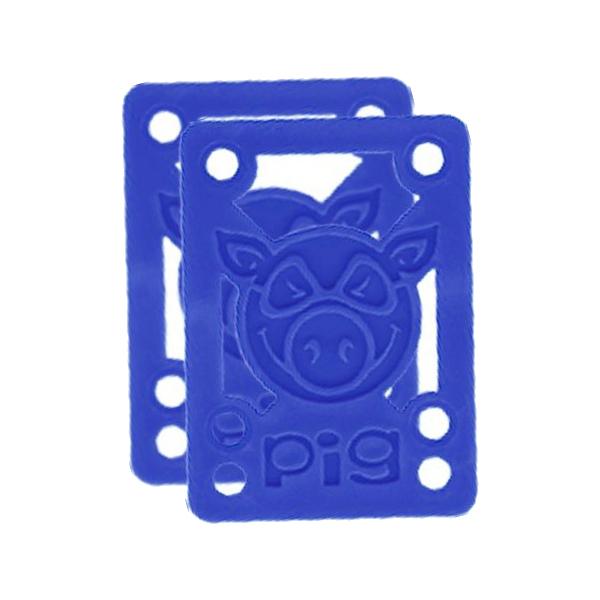 Подкладки под подвеску скейта PIG Piles Hard Risers (Blue)