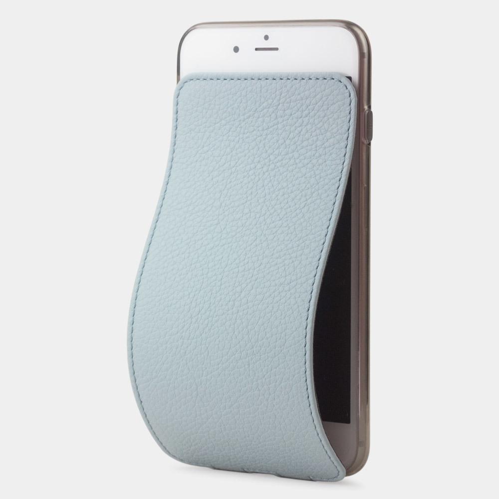 Чехол для iPhone 8/SE из натуральной кожи теленка, голубого цвета
