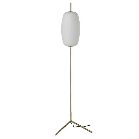 Лампа напольная Silk, D22 см, белое опаловое стекло