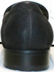 Стильные мужские туфли мокасины на каблуке зимние Welfare 555841 Dark Brown Nubuk & Fur.