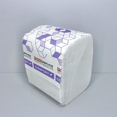 Туалетная бумага листовая Pro Comfort Eco 2сл. (250 шт.) белая