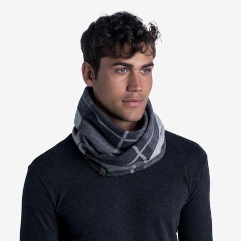 Вязаный шарф-хомут Buff Neckwear Knitted Infinity Charles Black фото 2