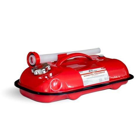 Канистра топливная металлическая горизонтальная AVS HJM-05, 5л, красная
