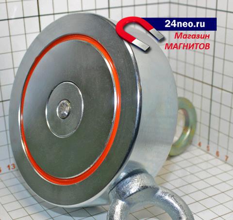 Поисковый магнит F-400х2