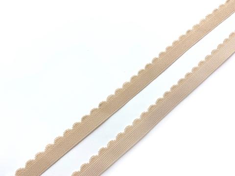 Резинка отделочная бежевая 12 мм (цв. 126)