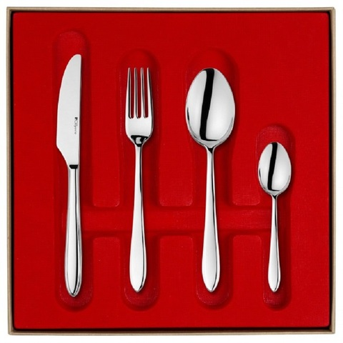 Набор столовых приборов  на 6 персон, 24 предмета, нержавеющая сталь , серебристый, артикул 206267, серия Norway
