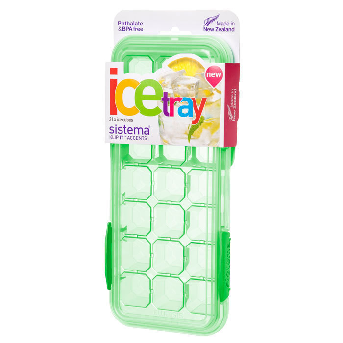 """Форма для льда Sistema """"KLIP IT"""" 21 ячейка, цвет Зеленый"""