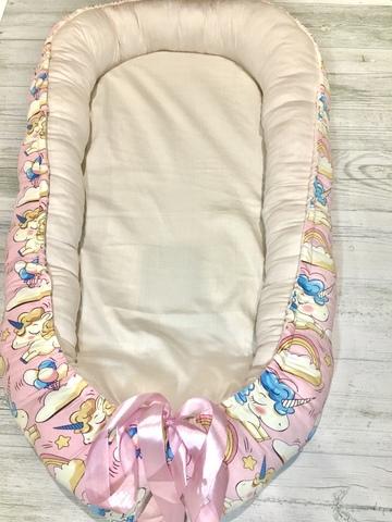 Гнездышко-кокон цвет розовый