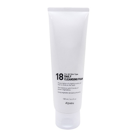 A'Pieu 18 Daily Cleansing Foam слабокислотная пенка для молодой кожи