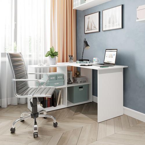 Угловой письменный стол ДОМУС СП016 белый