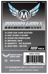 Протекторы для настольных игр Mayday Euro Card - Black Backed (59x92) - 100 штук